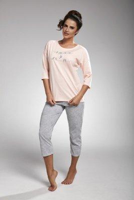 Cornette 157/166 birds różowy piżama damska