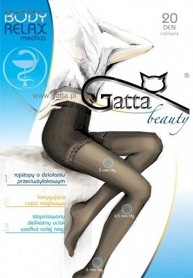 Gatta Body Relax Medica 20 den 5-XL rajstopy