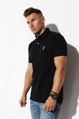 Orlovski Polo Logo czarna koszulka męska