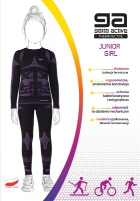 Gatta 42417S Thermoactive Junior Girl komplet termoaktywny