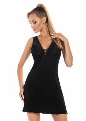 Donna Jenifer czarna Koszula nocna