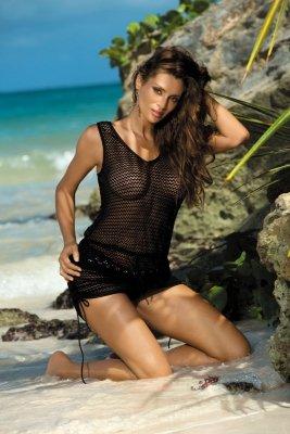 Sukienka plażowa Marko Rose M-382 Nero