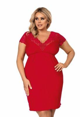 Donna Tess czerwona Koszula nocna Size Plus