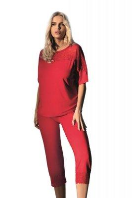 Dkaren Ara czerwona Piżama damska