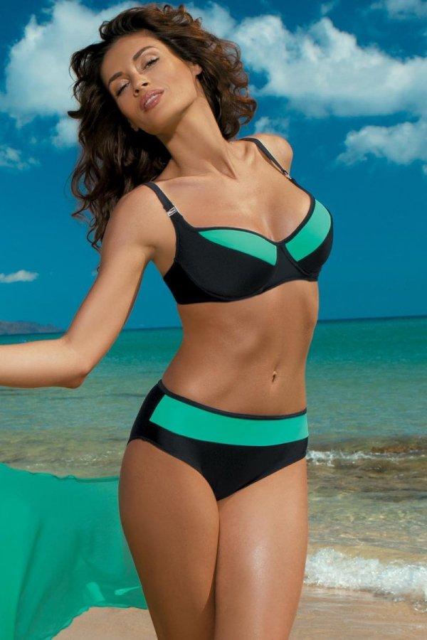 Kostium kąpielowy Marko Nancy Nero-Maladive M-330 Czarno-zielony (154)