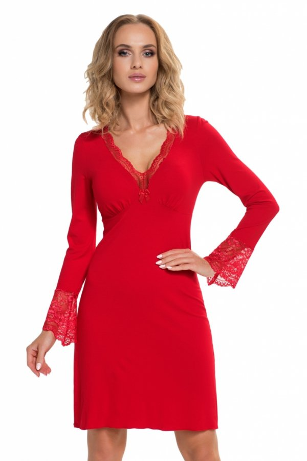 Donna Stella II czerwona Koszula nocna