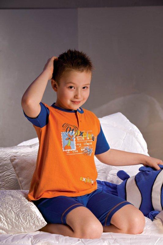Piccolo meva Filip 2972 granatowo-pomarańczowa Piżamka chłopięca