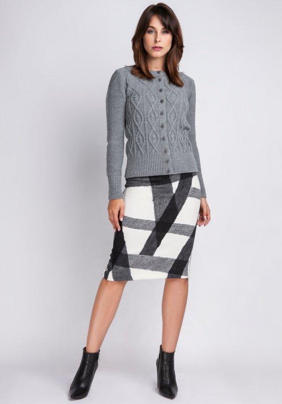 MKMSwetry Ariana SWE 008 szary sweter