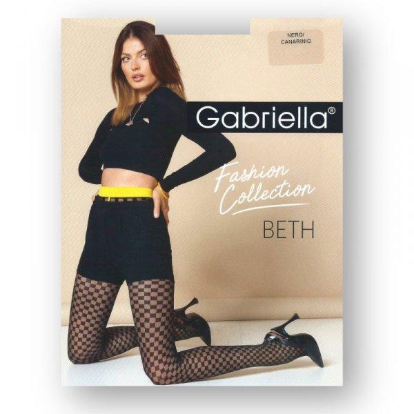 Gabriella 487 Beth nero/canarinio rajstopy damskie