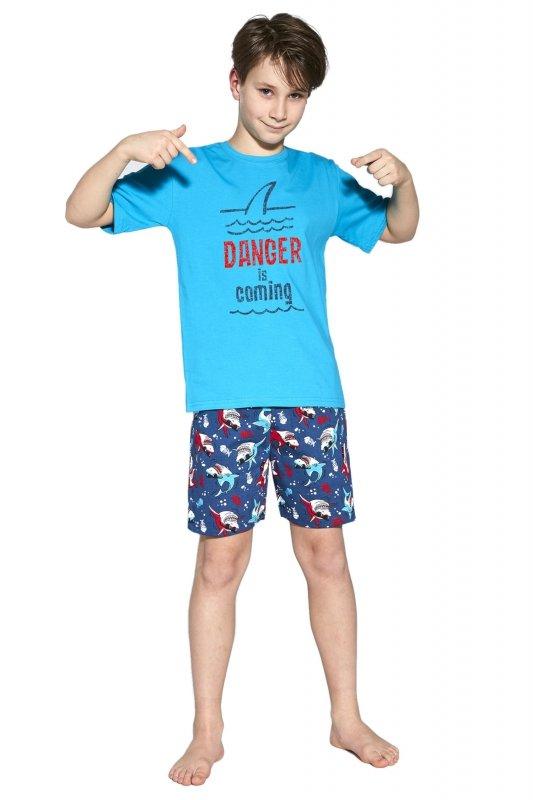 Cornette 790/94 Young Danger Turkusowy piżama chłopięca