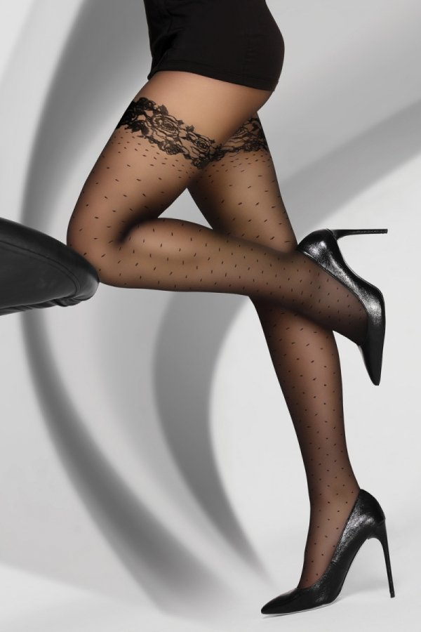 Livia Corsetti Tiongest 30 DEN Black Rajstopy