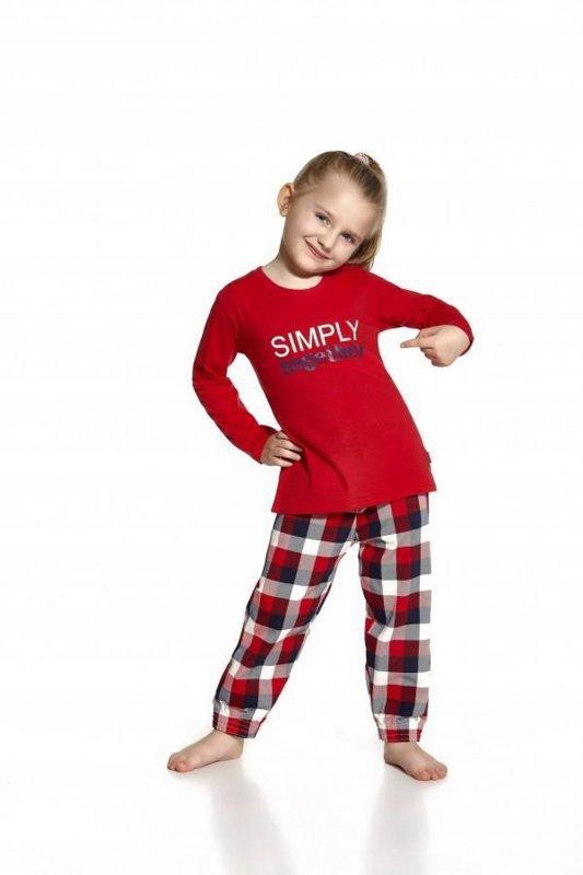 Cornette 973/46 Simply together czerwony piżama dziewczęca