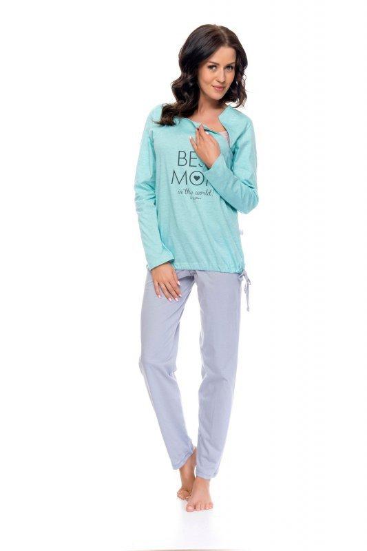 Dobranocka 9101 mint grey piżama damska