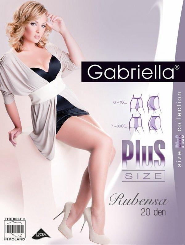 Gabriella Rubensa Plus Size 161 20 den 8-9 rajstopy damskie
