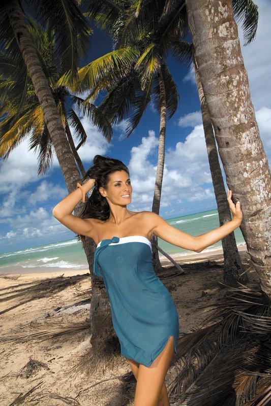 Tunika plażowa Marko Mia Sharm M-241 Morski (229)