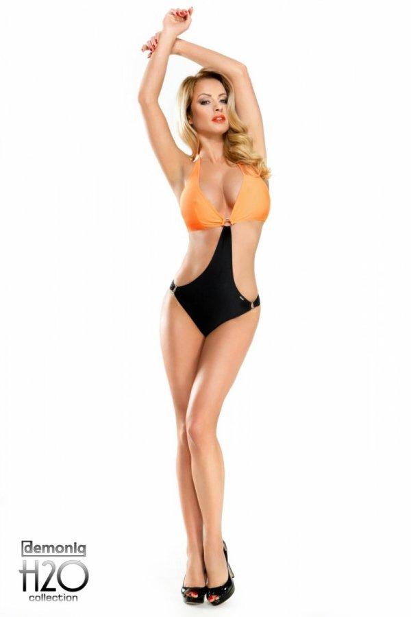 Demoniq Solange black orange Monokini