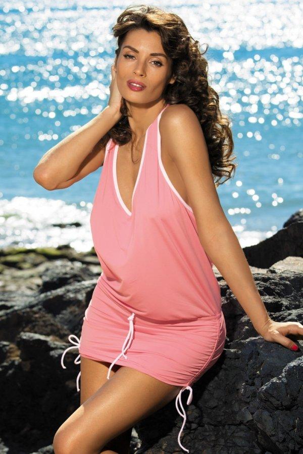 Sukienka plażowa Marko Elsa Frosted M-313 Koralowa (285)