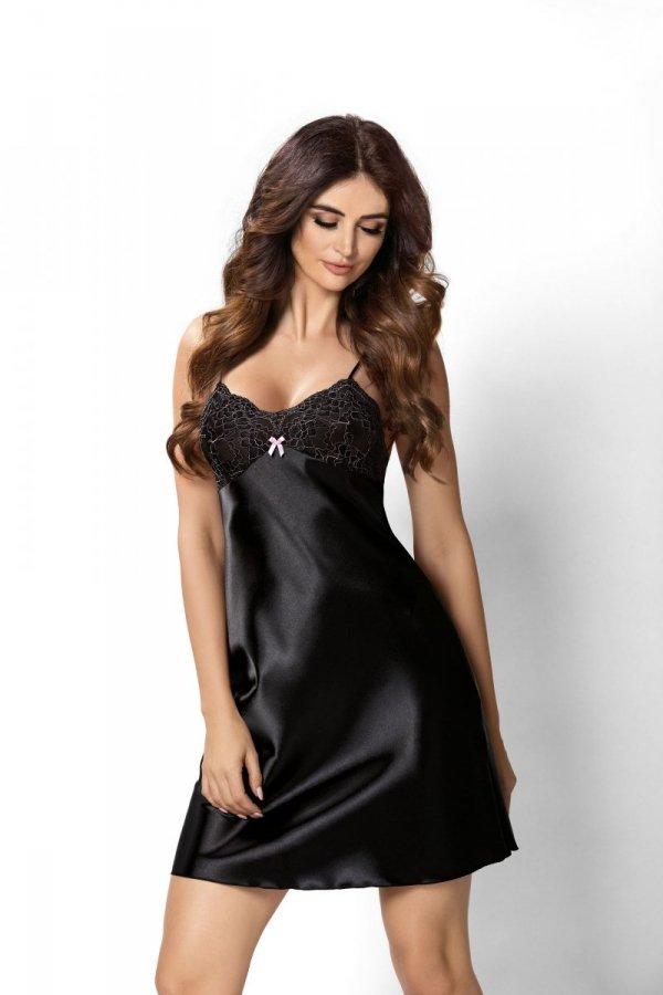 Donna Larisa czarna Koszula nocna