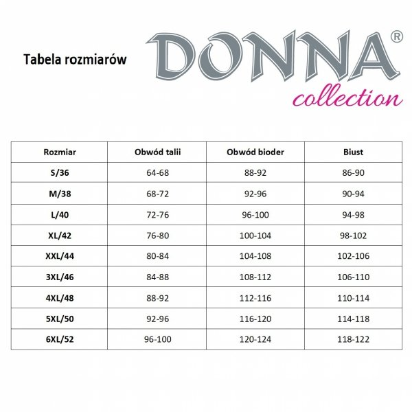 Donna Clara 1/2 czarna Piżama damska
