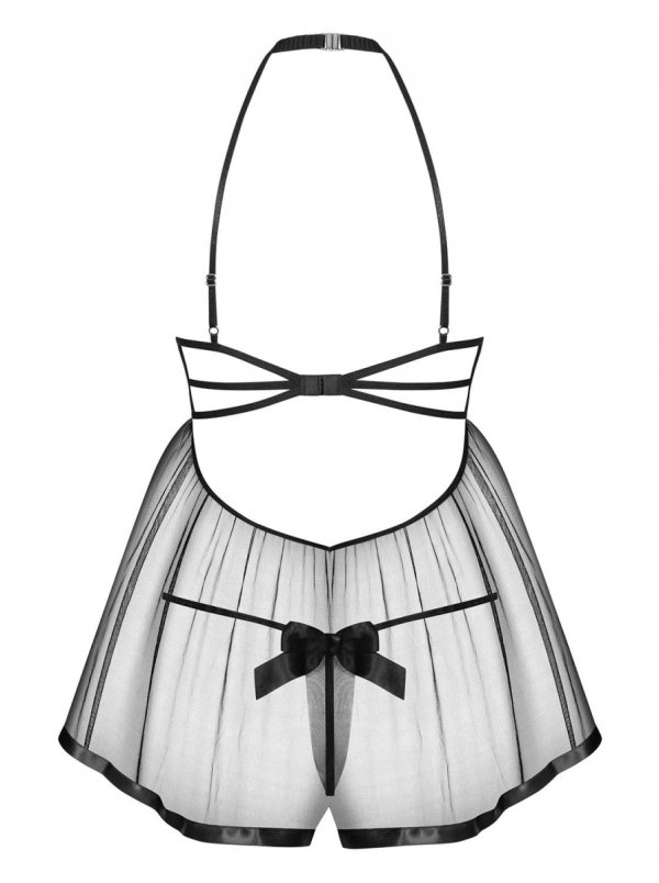Obsessive Delishya czarna babydoll Koszulka
