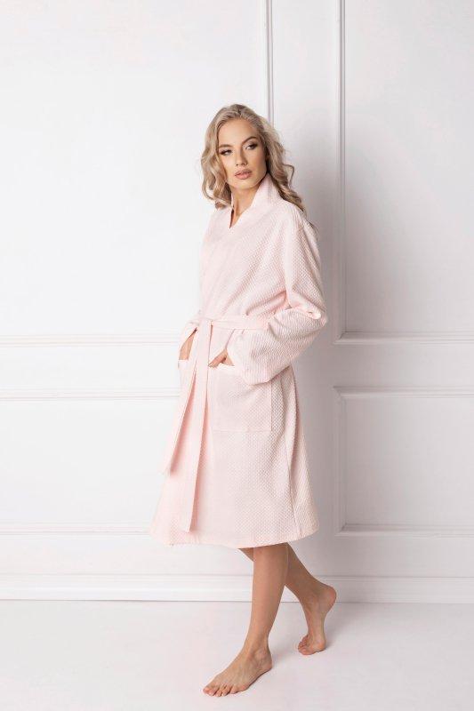 3bd5466b5de375 Aruelle Marshmallow Pink Short szlafrok damski - Szlafroki damskie ...