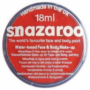 Snazaroo - farbka do malowania twarzy - CZERWONA
