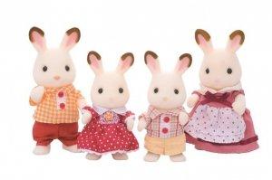 Sylvanian Families Rodzina królików z czekoladowymi uszkami