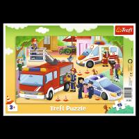 Puzzle Ramkowe Pojazdy Interwencyjne 15 el. Trefl 31355