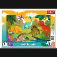 Puzzle Ramkowe Dinozaury 15 el. Trefl 31359