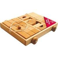 Klocki Drewniane naturalne w wózku Kukuryku Adamigo 60673