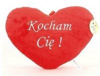 Pluszowe Serce Poduszka Kocham Cię 25x20 cm Średnie Walentynki
