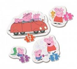 Moje Pierwsze Puzzle Peppa Pig Świnka Peppa 3/6/9/12 el. Clementoni 20829
