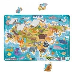 Puzzle Ramkowe Eurazja 53 el. Dodo 300174