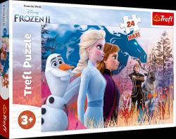 Puzzle Maxi Magiczna Wyprawa Frozen 24 el. Trefl 14298