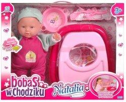Lalka Natalia Chodząca Bobas w chodziku Artyk 11192
