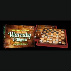 Gra Planszowa 2w1 Warcaby Młynek Trefl 01681