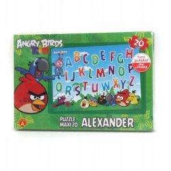 Puzzle Maxi Literki Angry Birds Rio 20 el. Alexander 1129