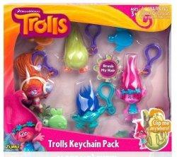 Trolls Zestaw 4 plastikowych breloków 10,5 cm TM Toys 6204