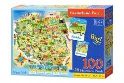 Puzzle Mapa Polski 100 el. Castroland 142