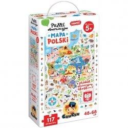 Puzzle Obserwacyjne Mapa Polski 117 el. CzuCzu 49096