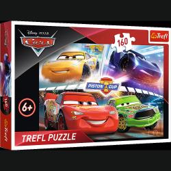 Puzzle Cars Auta 3 Zwycięski wyścig 160 el. Trefl 15356
