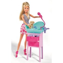Lalka Steffi Salon piękności dla psiaków Simba 5733266