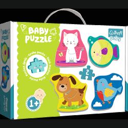 Moje Pierwsze Puzzle Baby Zwierzątka 4x2 el. Trefl 36074