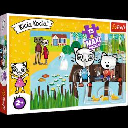 Puzzle Maxi Kicia Kocia nad Jeziorem 15 el. Trefl 14334