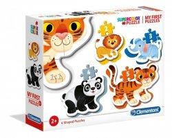 Moje Pierwsze Puzzle Dzikie Zwierzęta 2/3/4/5 el. Clementoni 20810