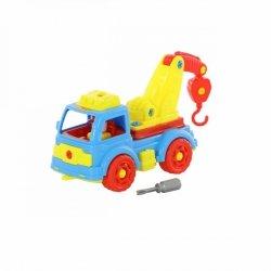 Klocki transport Samochód ewakuator ze śrubokrętem Polesie 73037
