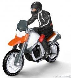 Motocyklista na motorze Schleich 42092