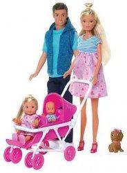 Lalka Steffi Rodzina z Trojaczkami Simba 5733426