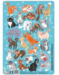 Puzzle Ramkowe Koty 53 el. Dodo 300180