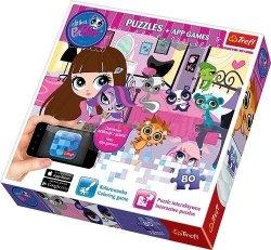 Puzzle Zwierzak Littlest Pet Shop z aplikacją 80 el. Trefl 75101